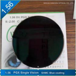 1.56 Single Vision Photochromic (PGx) Shmc ブルーコーティング光学レンズ