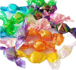 Os doces transparente Filme de torção de PVC de Cintagem com arco-íris iridiscente cores para Candy Wrapper de embalagem