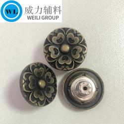 제조업체 사용자 정의 황동 알로이 메탈 청바지 버튼 택 버튼 바지 팬츠는 다양한 색깔로 옷감을 다듬습니다