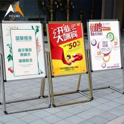 Высокое качество уникальный открытый металл постоянного баннеры реклама Пользовательское для монтажа в стойку