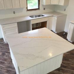 부엌 프로젝트 또는 건축 또는 건물 또는 가정 훈장을%s Prefabricated Calacatta 석영 또는 대리석 또는 화강암 또는 석회화 또는 돌 싱크대