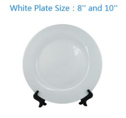 Plaat het best Van uitstekende kwaliteit van de Sublimatie van de Duim van bevordering 8 /10 Met een laag bedekte Witte Ceramische de Spatie