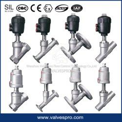Atuador de plástico Ângulo pneumático da válvula do assento com rosca/Braçadeira/Solda/conexão flangeada cheio de Aço Inoxidável Válvula proporcional de controle substituir a ESG
