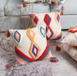 غطاء من الوسائد النوردية يغطي وسادة ستريو مصنوعة يدويًا من الهند يمكن تخصيص أريكة تريسل كأريكة