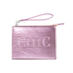 Mirror-Surface PU saco cosméticos com corda de mão- saco cosméticos