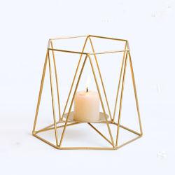 بالجملة [كندل هولدر] [نورديك] هندسيّة شكل شمعدان حديد [كندل هولدر] لأنّ بينيّة معدن حامل
