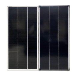 لوحة شمسية ذات إطار أسود بقدرة 100 واط ذات كفاءة عالية بقدرة 120 واط 160 واط 190 واط
