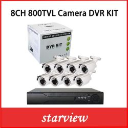 감시 8CH H.265 DVR CCTV 시스템 실외 카메라 키트, 8PCS 포함