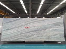 Hot Sale Star Hotel Apartments Choix cristal de glace bleue pour les murs de pierre de marbre de Jade Comptoirs de plancher