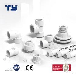 Le PVC (CPVC ou en plastique) du raccord de tube du tuyau de pression de la norme BS