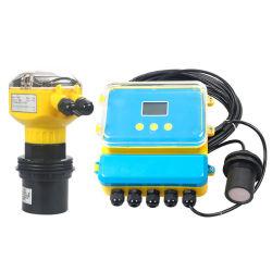 쪼개지는 Ultrasonic Fuel Level Sensor 4-20mA Water Level Meter Ultrasonic Level Transmitter