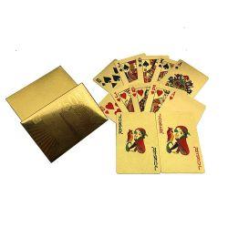 Impression de logo de la publicité promotionnelle tisonniers Golden Cartes à jouer avec un bon paquet de la Chine
