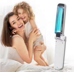 2020 Novo Produto dobrável de 5V recarregável esterilizador UV de comprimento de onda da luz 253.7 Nm Lâmpada germicida UV portátil