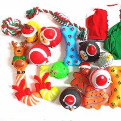 비닐 PVC 크리스마스 장난감 시리즈 애완 동물 장난감 애완 동물 삐걱거리는 장난감을%s 귀여운 청소 이 재미있은 작은 장난감