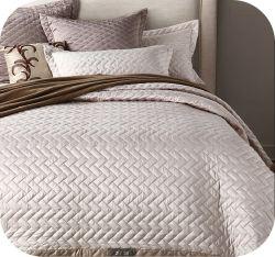 Couvre-lits & Coverlets Polyester satin mat en couleur unie; Pinsonic Quilting capot lit taie d'été avec climatiseur lavable couvre-lit