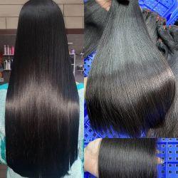 Comercio al por mayor directamente del hueso Vietnam Hair Extension barata el Cabello Remy brasileña la trama de la cutícula alineados 100% naturales sin procesar mejor la materia Virgen cabello tejido