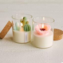 Kaarsen van de Container van het Glas van de Installatie van de Douane van het huis de Decoratieve Kunstmatige