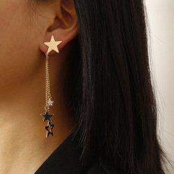 卸し売り方法模造宝石類の長いダイヤモンド Zircon の星の Tassel のイヤリング