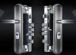 Serrature automatiche in lega di alluminio maniglie Set di maniglie serrature a mortasa e accessori per porte, antifurto e ignifugo