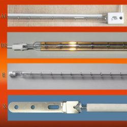 Solo tubo de cuarzo de onda corta de LED infrarrojos lámpara de calor