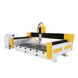 De acero grueso Bastidor de la máquina China Router CNC Grabador de piedra de 3D