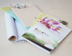 Preiswertes Soft Paper Cover School Note Pads mit Glue Bound