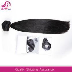 2016 Venta caliente 7pcs indio Virgen Remy Clip en cabellos lisos de grado 6 a 70 g/Conjunto Virgen India de alta calidad de las extensiones de cabello humano.