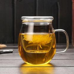 Vidrio de borosilicato tetera con té Infuser taza taza de Vidrio Cristal de taza taza de agua