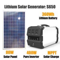 Портативное зарядное устройство для домашнего использования Power Pack с солнечная панель 360WH 400W