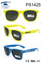 Lunettes de soleil en plastique de gosse coloré bleu de jaune de couleur légère (PS1425)