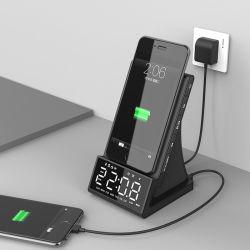 Мобильный телефон зарядное устройство беспроводного радио с будильником 2020 в зависимости от температуры
