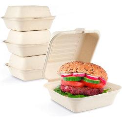 일회용 클램셸 안전 건강한 친환경 패스트 푸드 포장 상자
