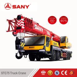 Sany Stc75 75톤 중고 트럭 크레인 3유로 초침 크레인