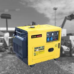 (5KW 5kVA 5000watts) com proteção acústica silenciosa resfriado a ar de arranque eléctrico do Grupo Gerador de Energia Portátil Diesel
