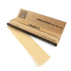 Prezzo di fumo naturale grezzo su ordinazione di Wholsale della fabbrica dell'OEM degli accessori non candeggiato più fine del documento di rotolamento della sigaretta del Weed del tabacco del documento di rotolamento di marca 12.5GSM Brown
