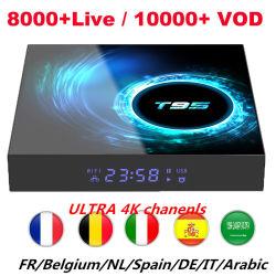 T95 H616 Smart Android TV Box IPTV Europa francés UK, US, 1 año de suscripción a canales de IPTV IPTV árabe receptor Top Box