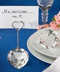 Decoração de casamento do coração de Cristal Design coloque os titulares de cartão