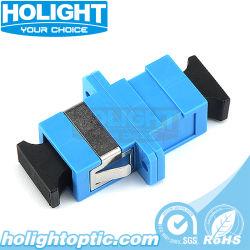 Sc a Sc Adaptador de fibra óptica con la brida