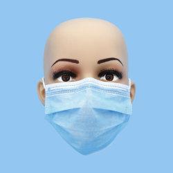 Em tecido, Now-Woven, elástico de retenção, na pele, amigável, Bef>95%, descartáveis, de 3 camadas, Protecive, máscara facial