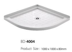 Centro Branco acrílico drene o compartimento para duche (BD-4004)