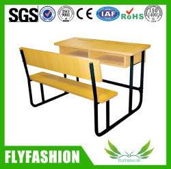 Populäre Klassenzimmer-Möbel-hölzerner Schule-Schreibtisch mit Stuhl (SF-46D)