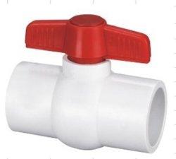 플라스틱 PVC-U 콤팩트 볼 밸브 소켓/나사산 끝