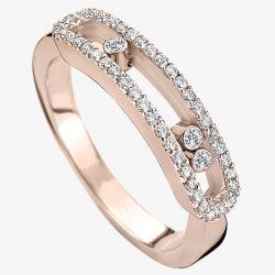 Мода украшения 925 Silver переместить кольца с микро-настройка