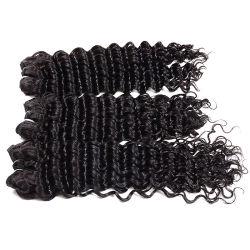 7Un brésilien vague profonde 4bundles reine vierge d'onde profonde de produits capillaires cheveux frisés profonde brut mouillé et Tissage de cheveux humains ondulées