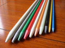 Los rayos UV resistente fibra de vidrio colorido vara de apoyo, varilla de soporte de fibra de vidrio