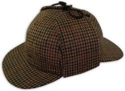 卸売ブラウンメンズウールツイード Deerstalker HAT スペシャル、 2 回の賄賂 Newsboys の帽子の野球の帽子