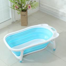 Nuovo commercio all'ingrosso pieghevole di plastica della vasca da bagno del bambino dei pp