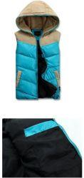 冬の人は暖かいフード付きのベストの偶然のCotton-Paddedジャケットの細いコートを与える