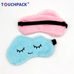 Custom Faux coloridos de peles de coelho Máscara de Olhos de sono suave