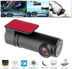 미니 Wi-Fi 1080p 블랙박스 140 와이드 앵글 카 DVR 대시보드 카메라, 360도 회전, 나이트 비전, 앱 공유 Esg12909